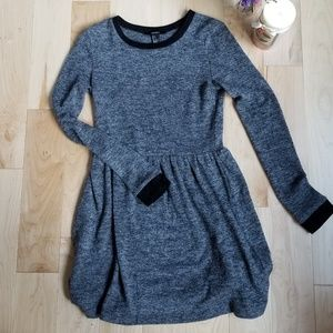 Forever 21 Gray Marl Knit Sweater Dress, Small